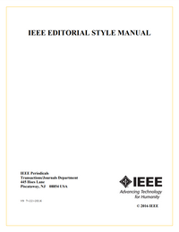 IEEE Editorial Style Manual